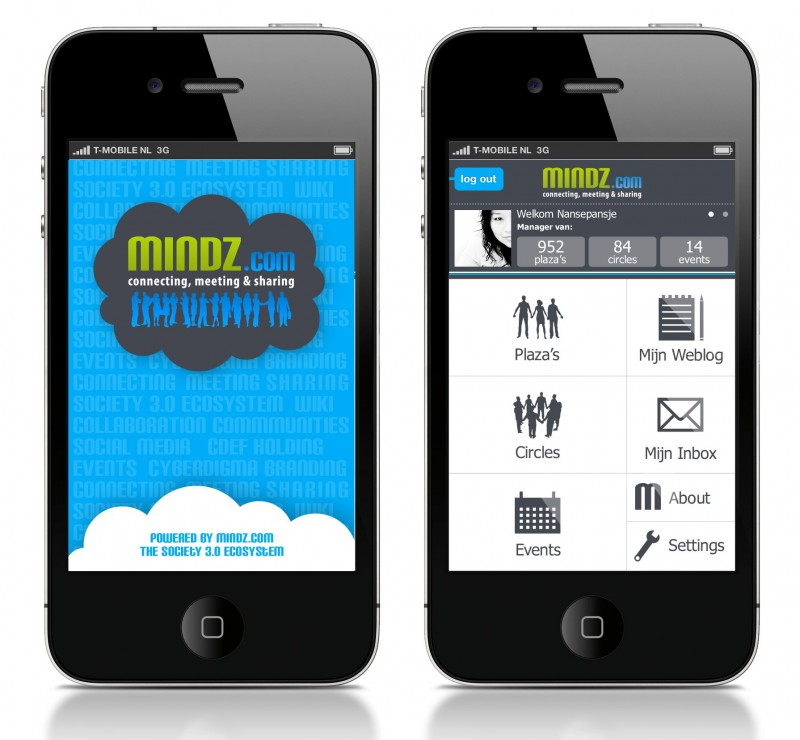 Mindz.com iPhone app
