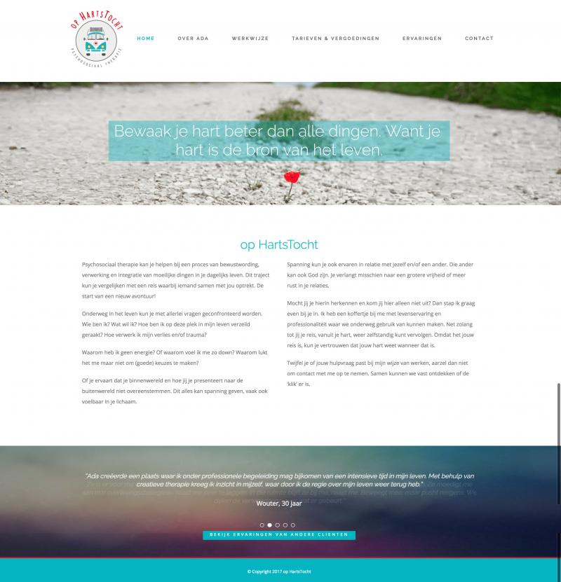 Website op Hartstocht