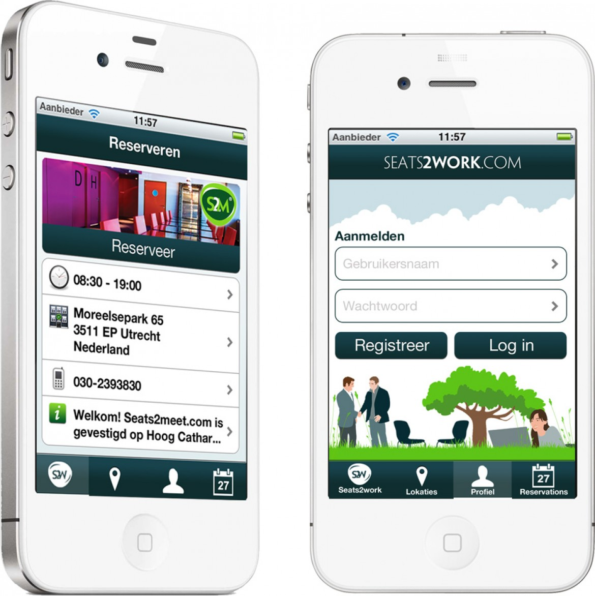 Seats2meet.com iPhone app